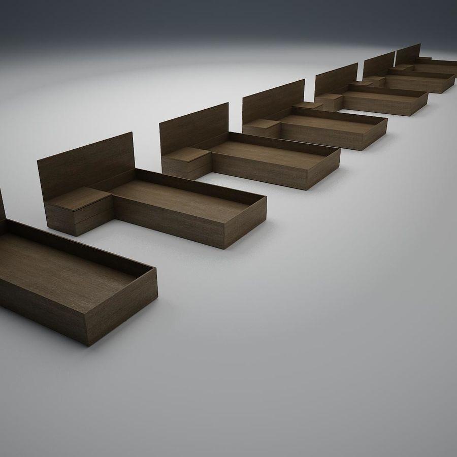 Основание кровати royalty-free 3d model - Preview no. 1