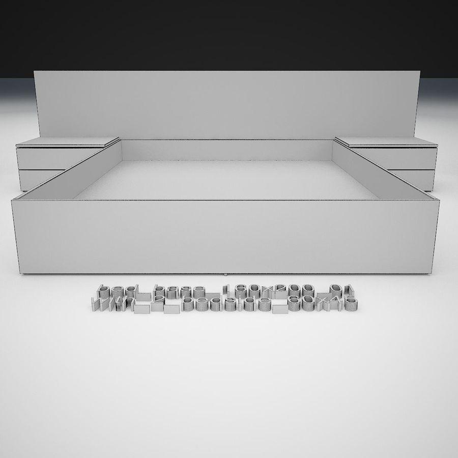 Основание кровати royalty-free 3d model - Preview no. 26