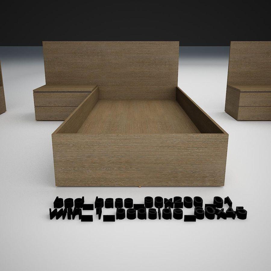 Основание кровати royalty-free 3d model - Preview no. 5