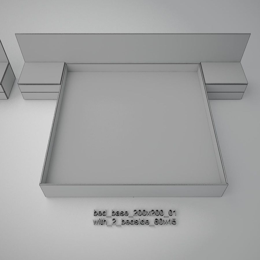 Основание кровати royalty-free 3d model - Preview no. 29