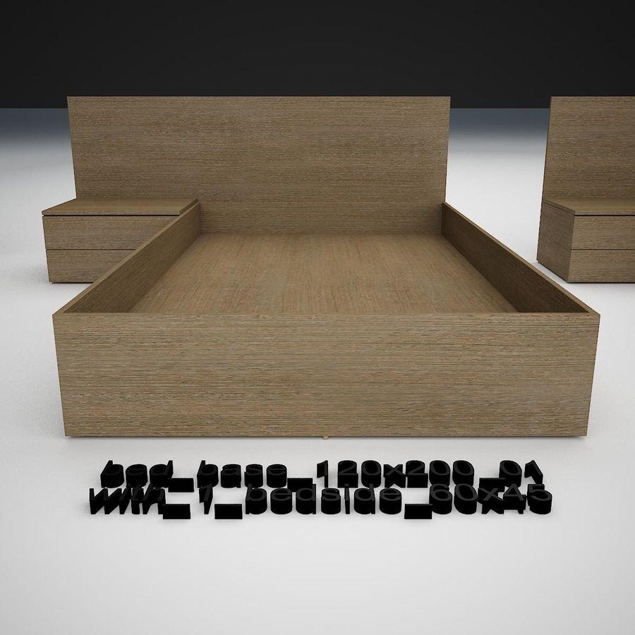 Основание кровати royalty-free 3d model - Preview no. 7