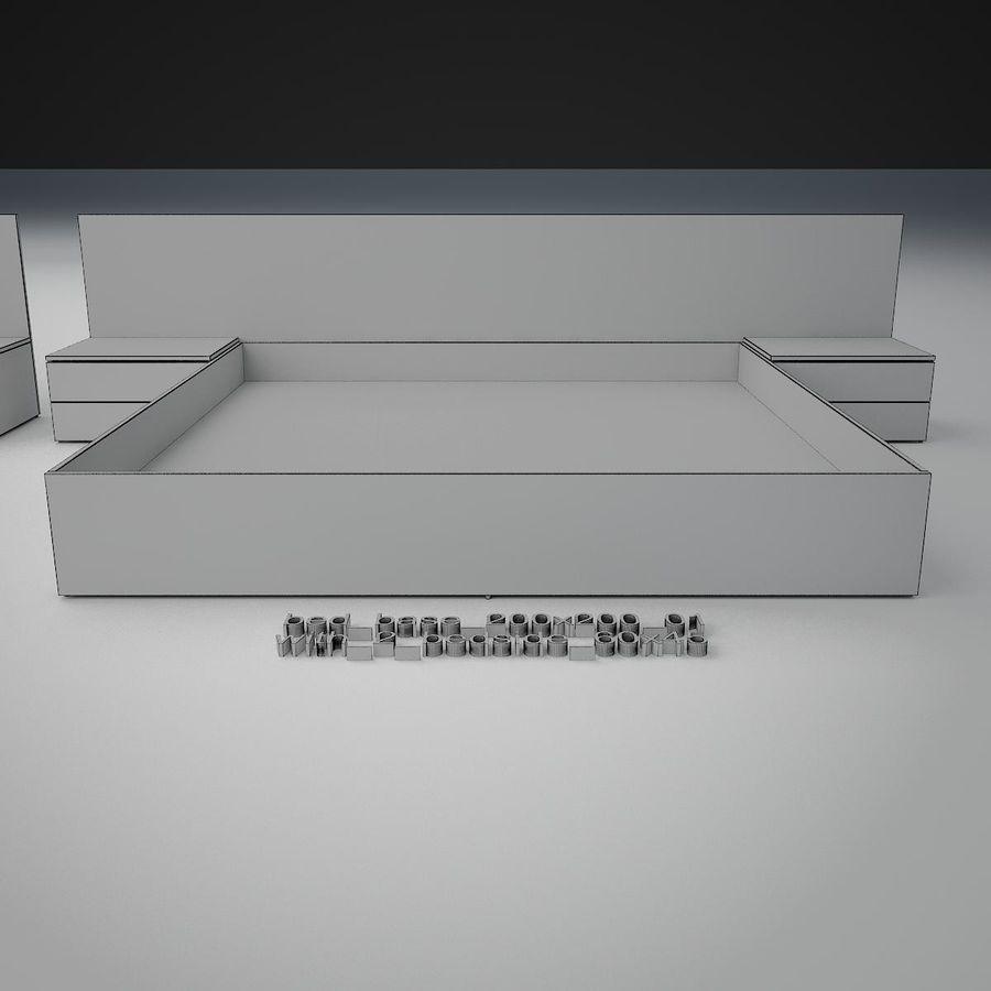 Основание кровати royalty-free 3d model - Preview no. 30