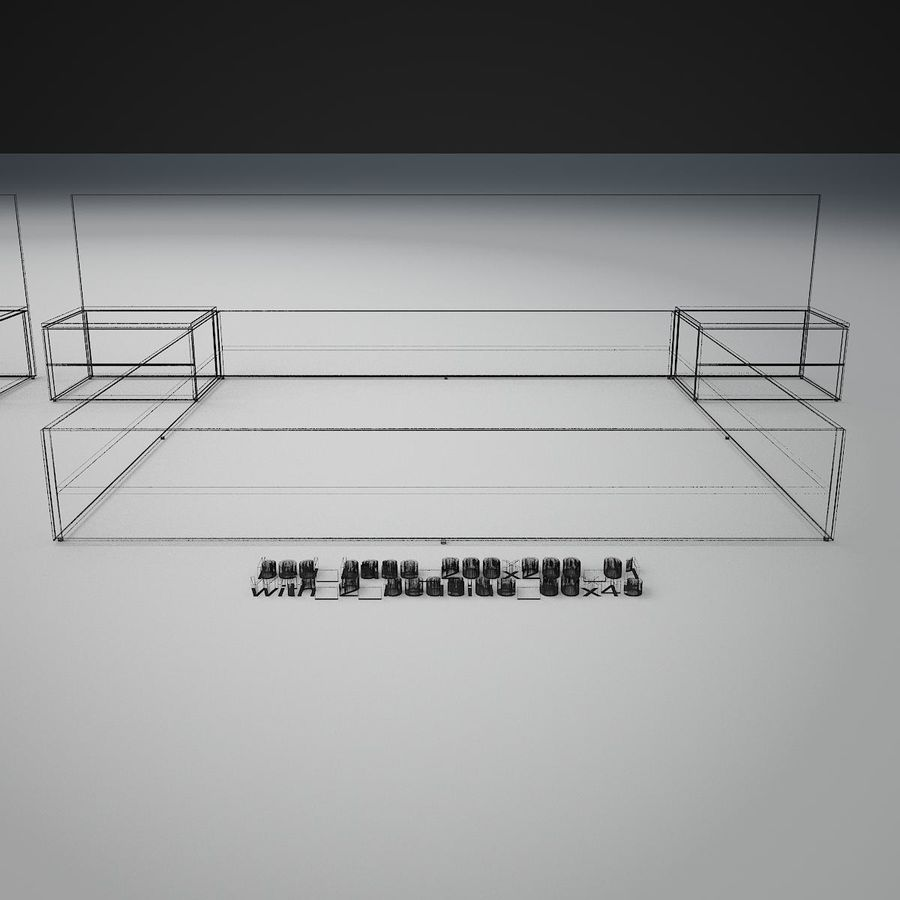 Основание кровати royalty-free 3d model - Preview no. 45