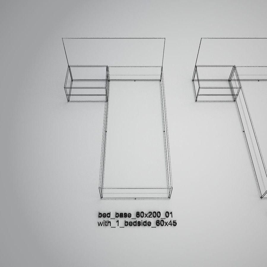 Основание кровати royalty-free 3d model - Preview no. 32