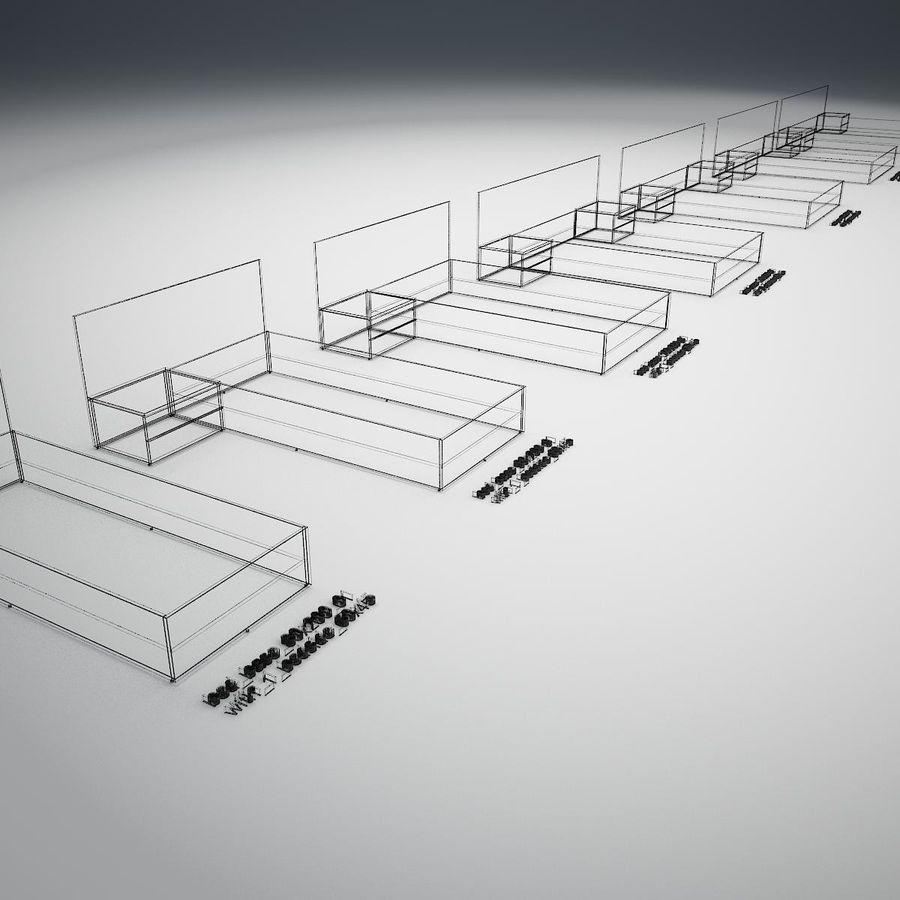Основание кровати royalty-free 3d model - Preview no. 31