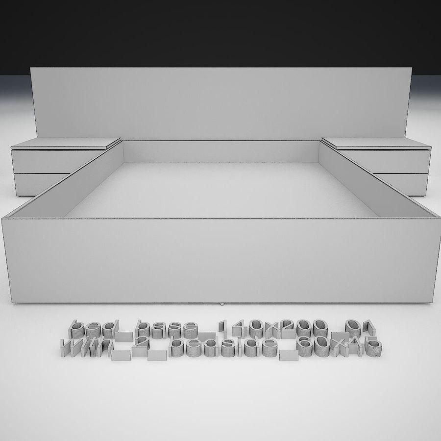 Основание кровати royalty-free 3d model - Preview no. 24