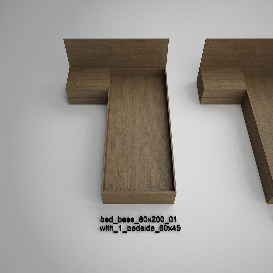Основание кровати royalty-free 3d model - Preview no. 2