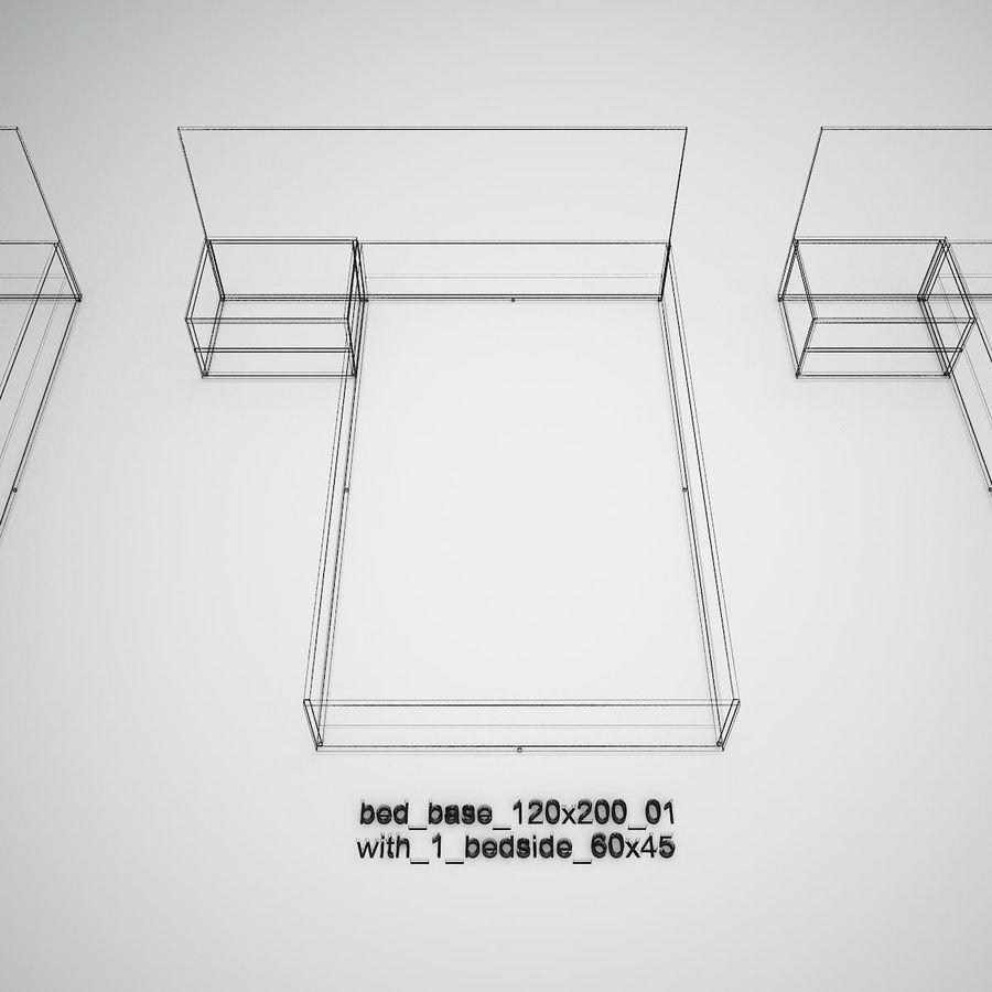 Основание кровати royalty-free 3d model - Preview no. 36