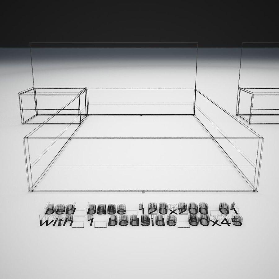 Основание кровати royalty-free 3d model - Preview no. 37