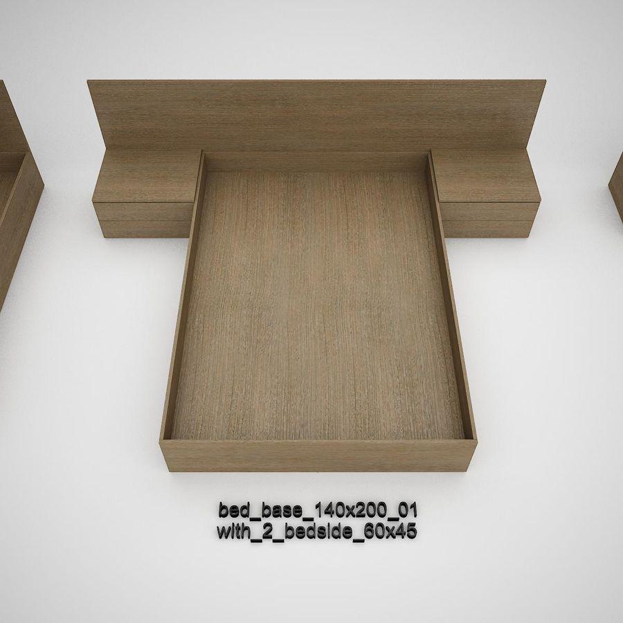 Основание кровати royalty-free 3d model - Preview no. 8