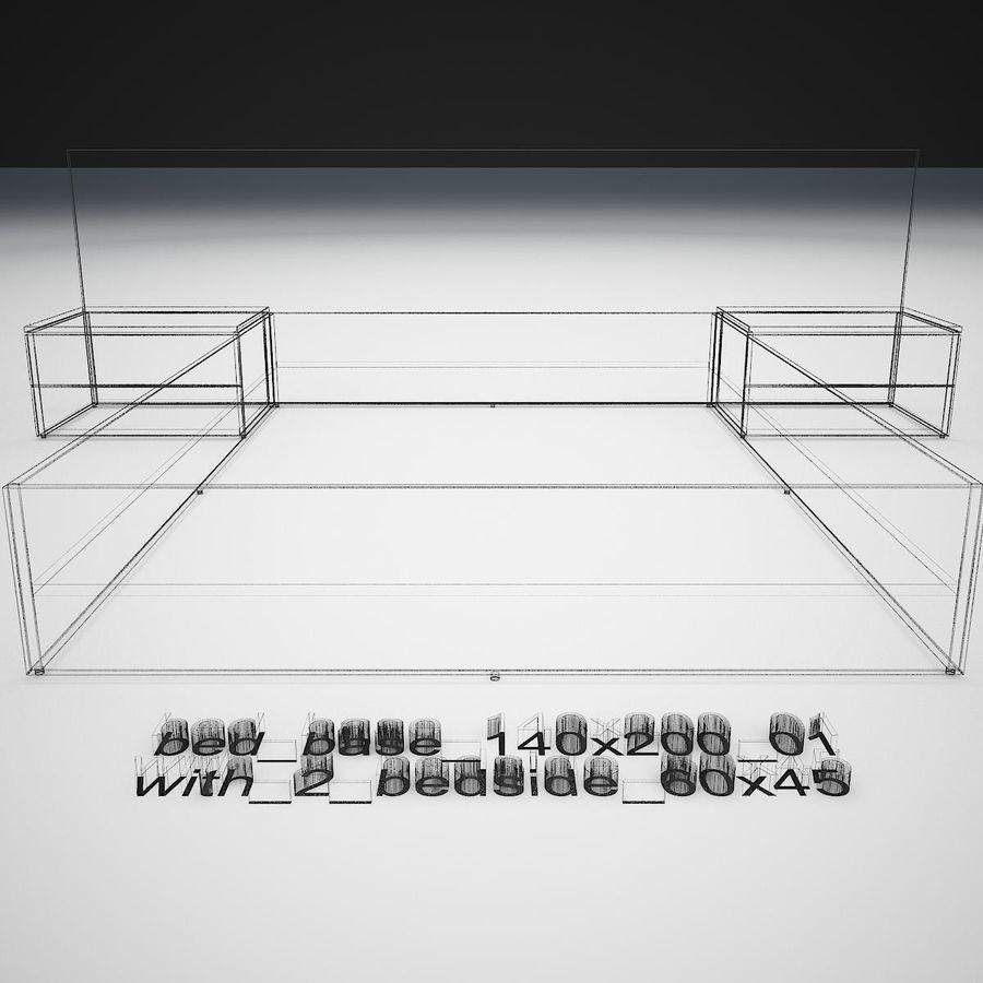Основание кровати royalty-free 3d model - Preview no. 39