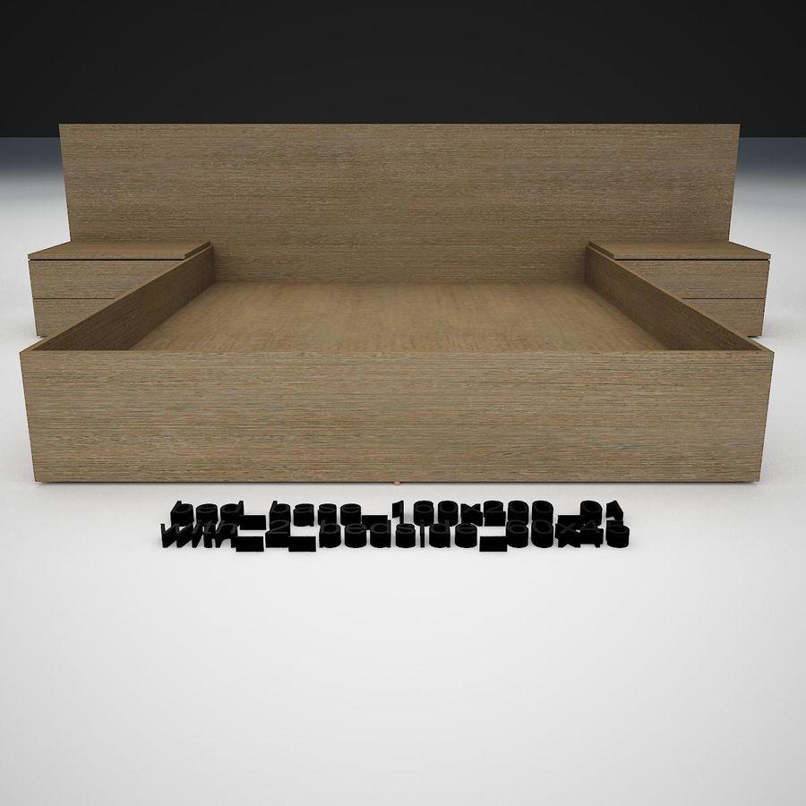 Основание кровати royalty-free 3d model - Preview no. 11
