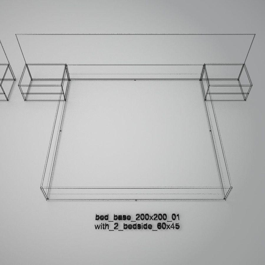 Основание кровати royalty-free 3d model - Preview no. 44
