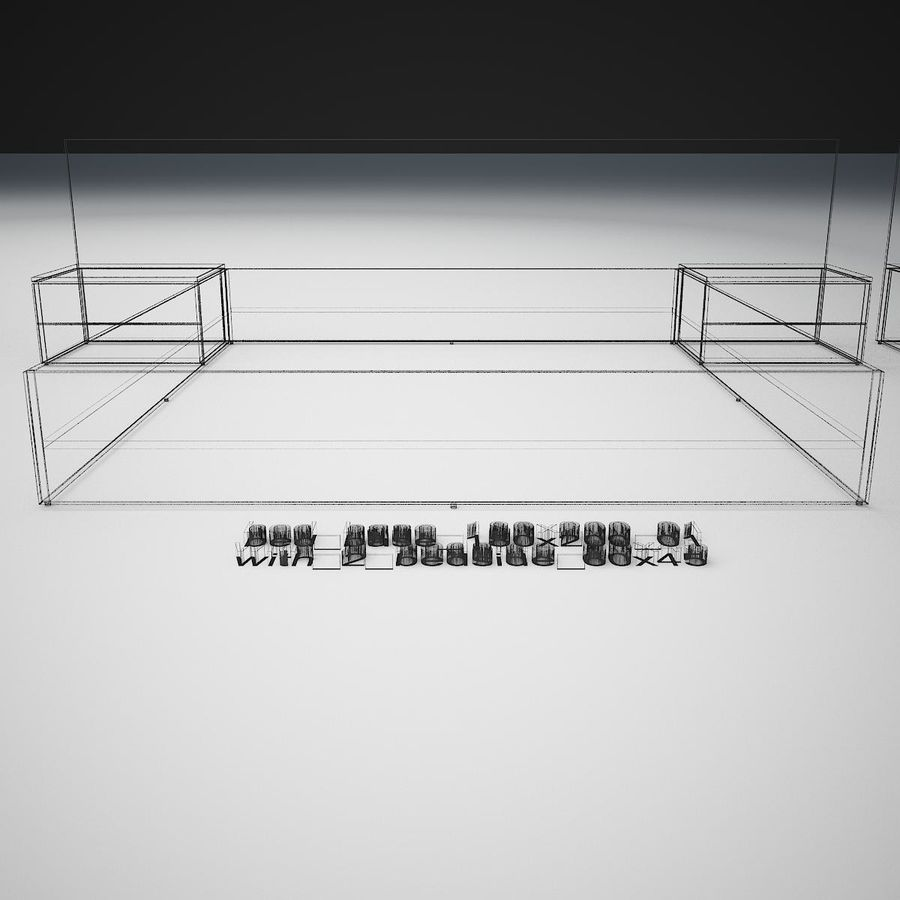 Основание кровати royalty-free 3d model - Preview no. 43