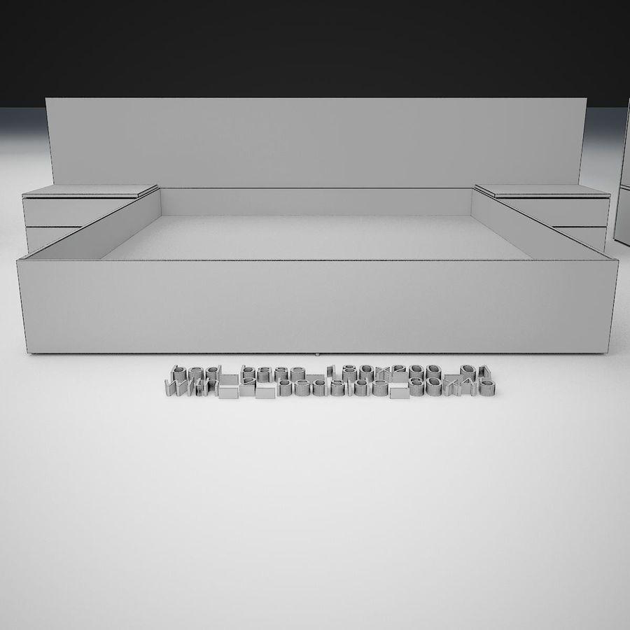 Основание кровати royalty-free 3d model - Preview no. 28