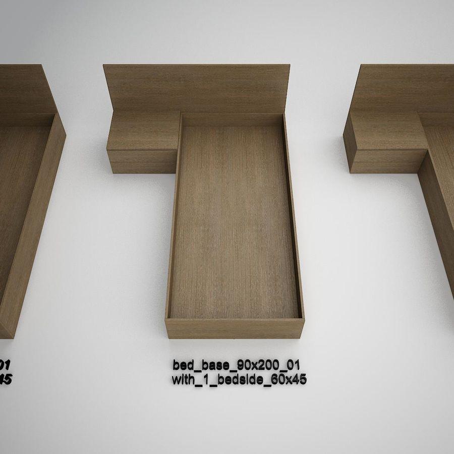 Основание кровати royalty-free 3d model - Preview no. 4