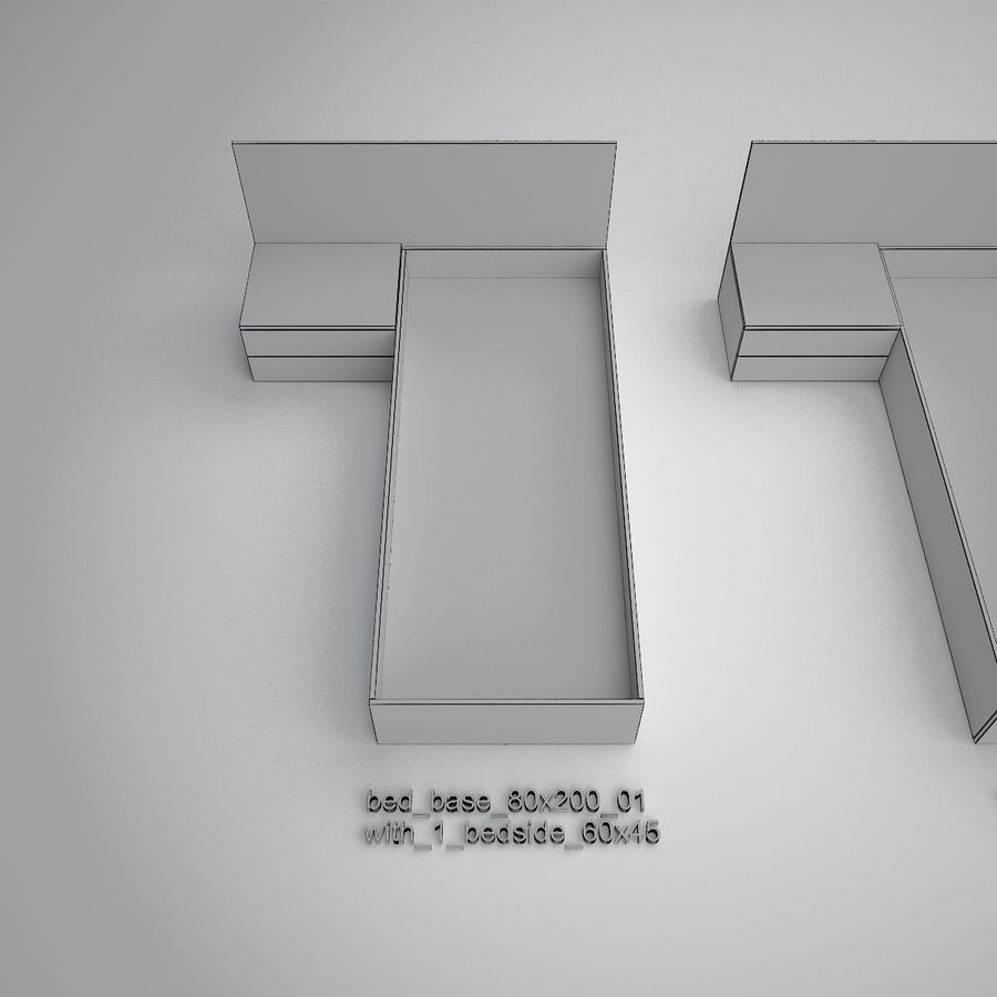 Основание кровати royalty-free 3d model - Preview no. 17