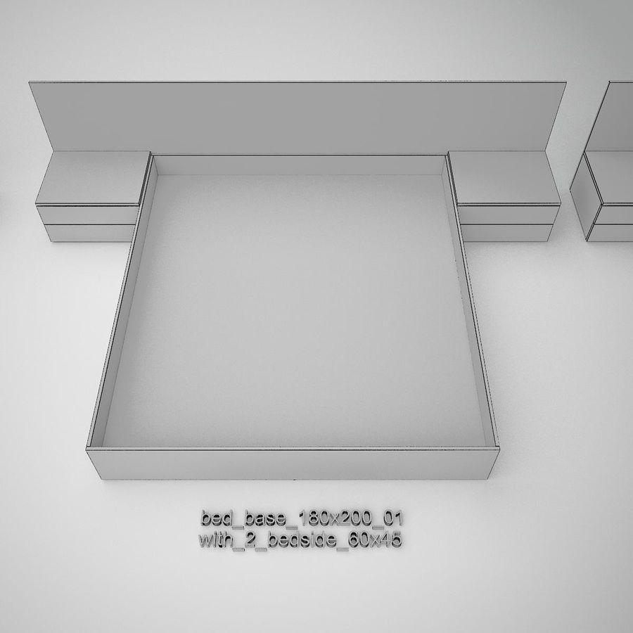 Основание кровати royalty-free 3d model - Preview no. 27
