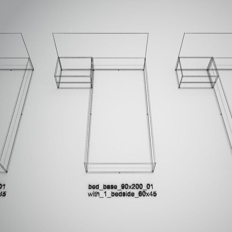 Основание кровати royalty-free 3d model - Preview no. 34