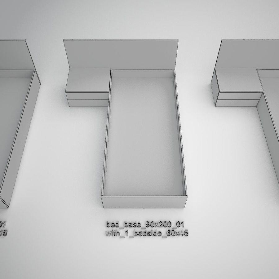 Основание кровати royalty-free 3d model - Preview no. 19