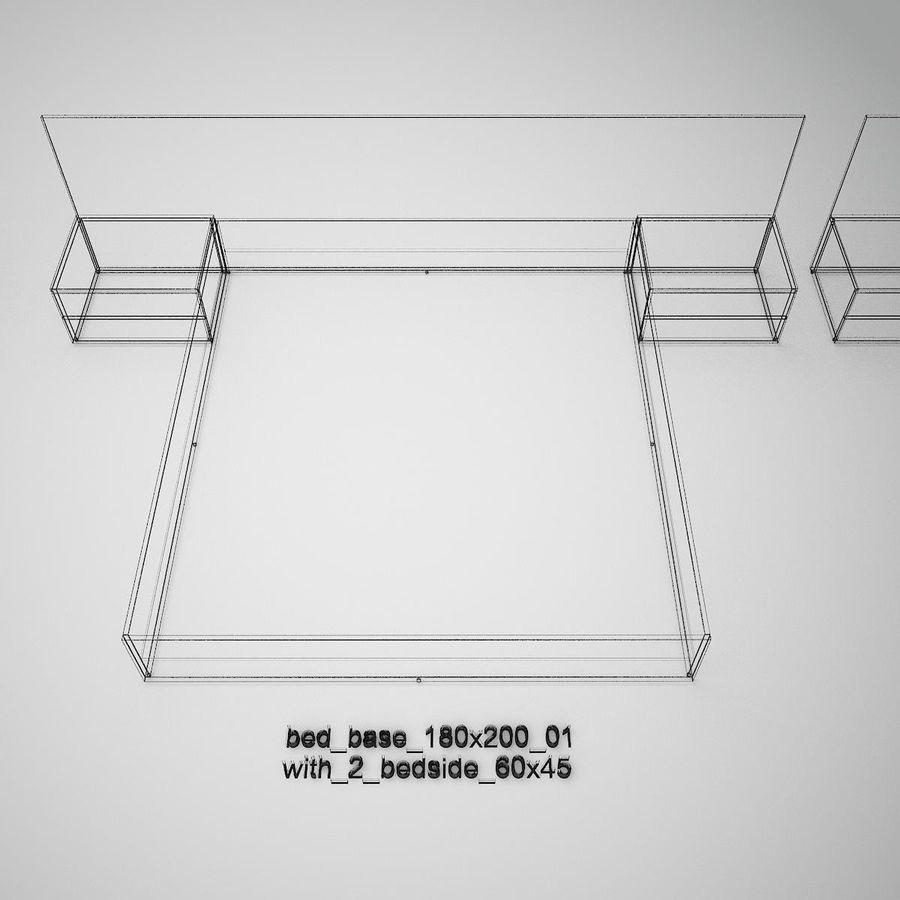 Основание кровати royalty-free 3d model - Preview no. 42