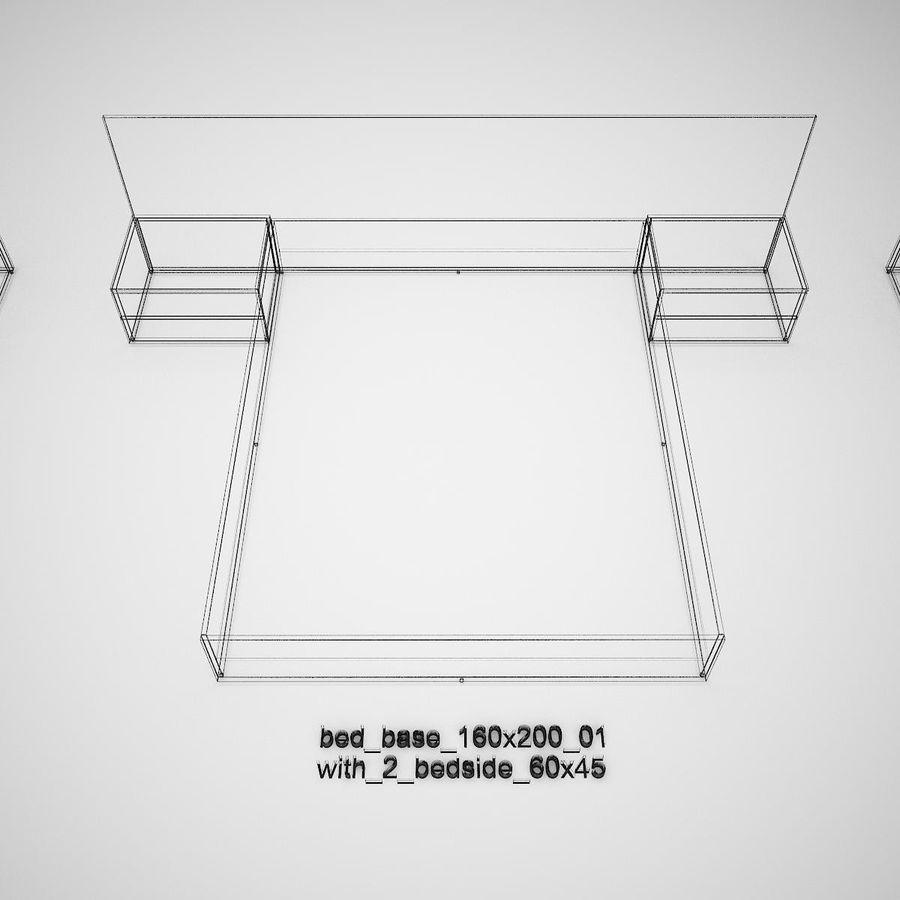 Основание кровати royalty-free 3d model - Preview no. 40