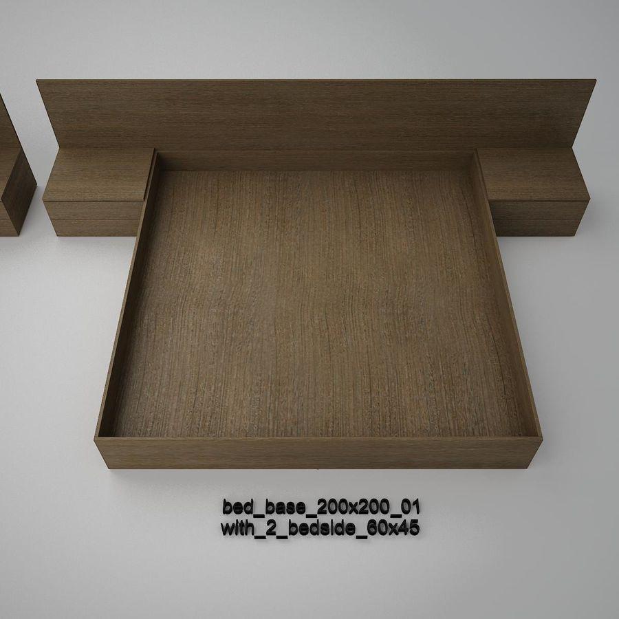 Основание кровати royalty-free 3d model - Preview no. 14