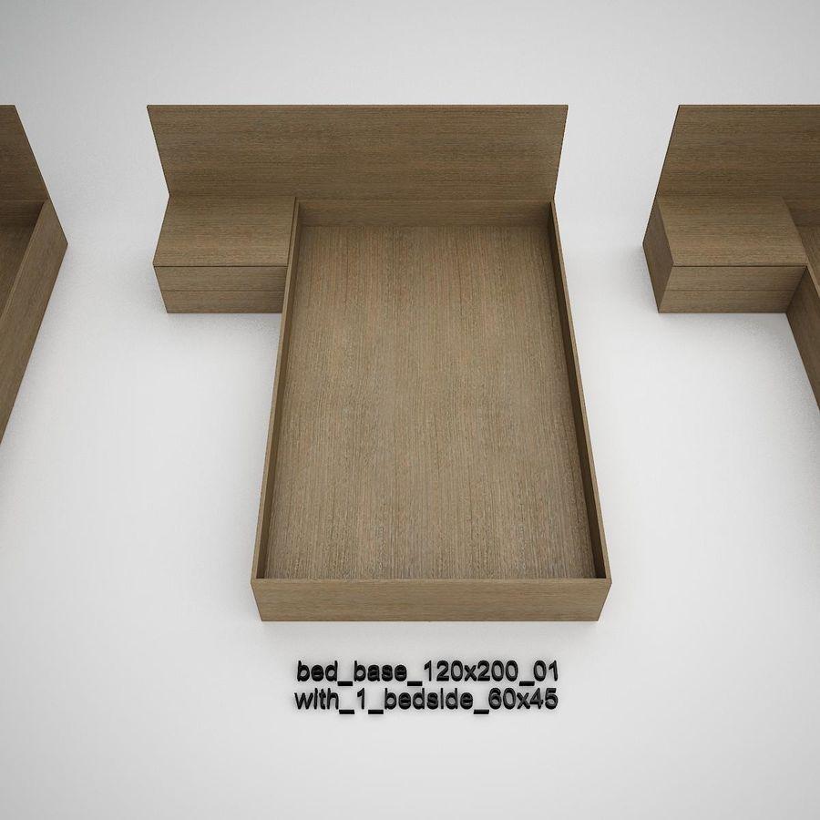 Основание кровати royalty-free 3d model - Preview no. 6