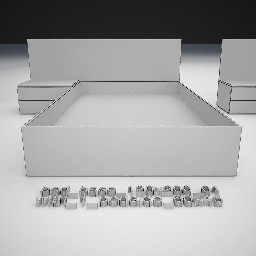 Основание кровати royalty-free 3d model - Preview no. 22