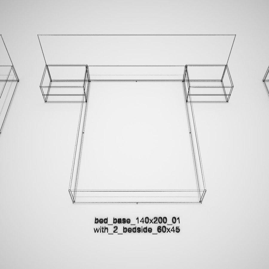 Основание кровати royalty-free 3d model - Preview no. 38