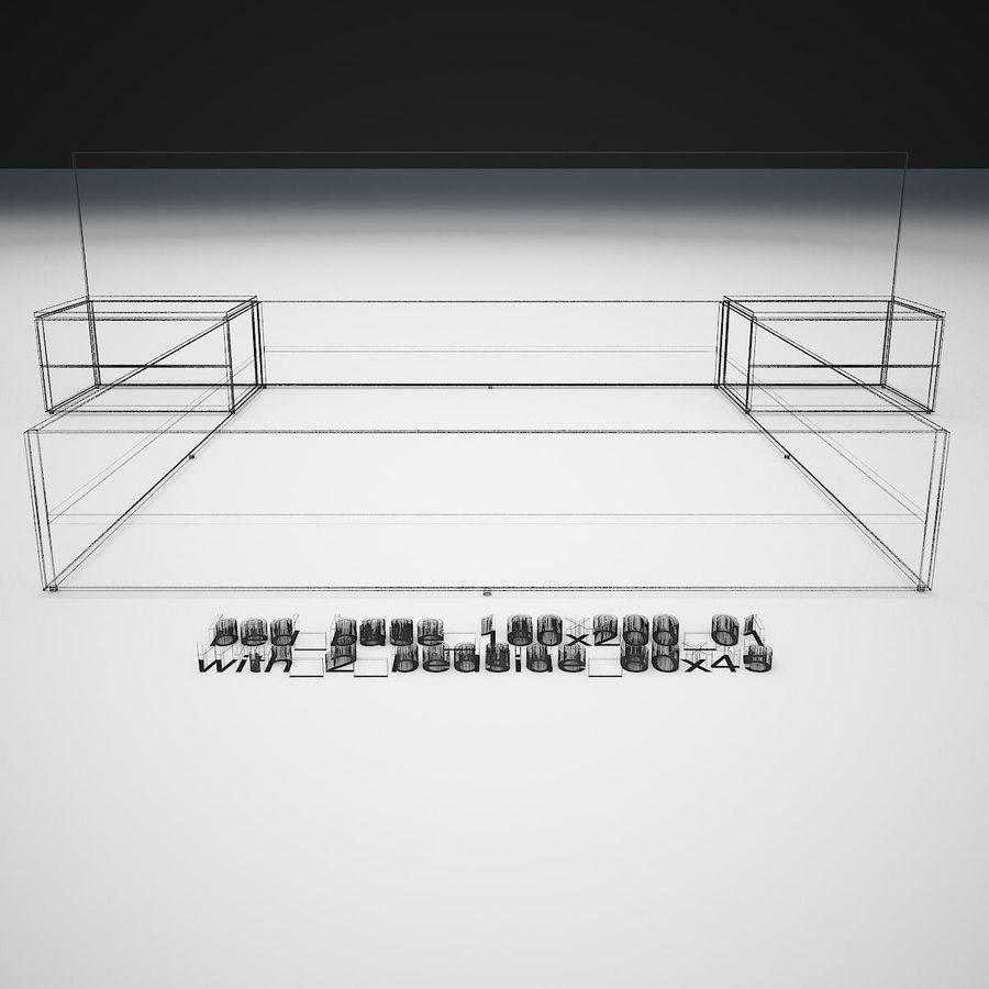 Основание кровати royalty-free 3d model - Preview no. 41