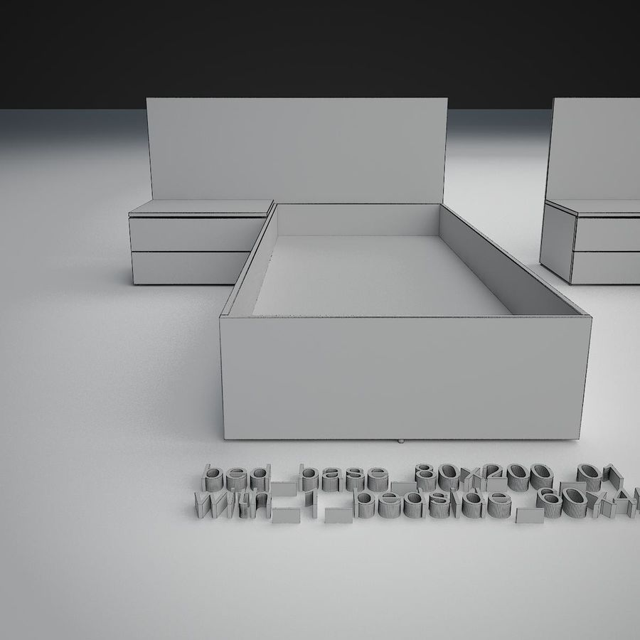 Основание кровати royalty-free 3d model - Preview no. 18