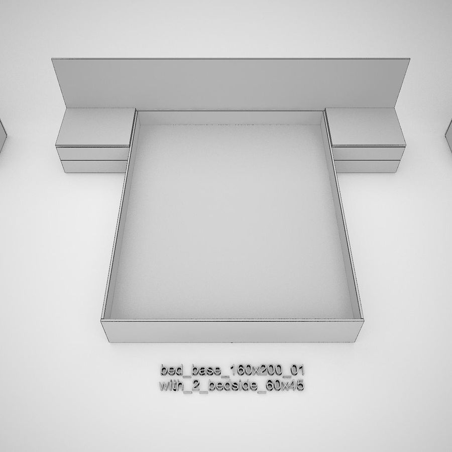 Основание кровати royalty-free 3d model - Preview no. 25