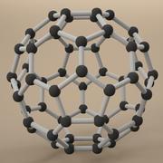 Struktura węgla Fuleren 3d model