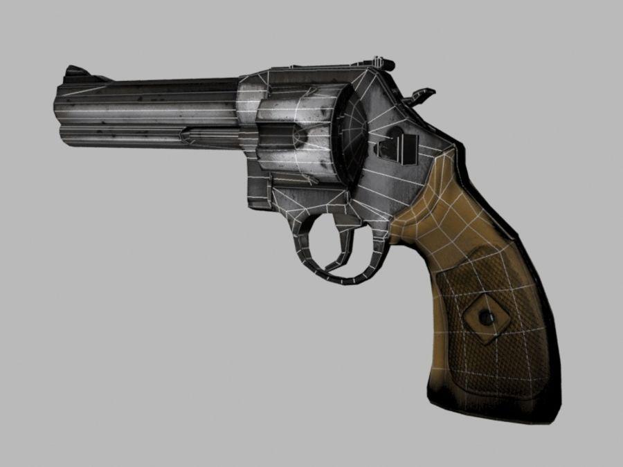 左轮手枪 royalty-free 3d model - Preview no. 3