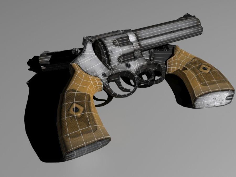左轮手枪 royalty-free 3d model - Preview no. 2