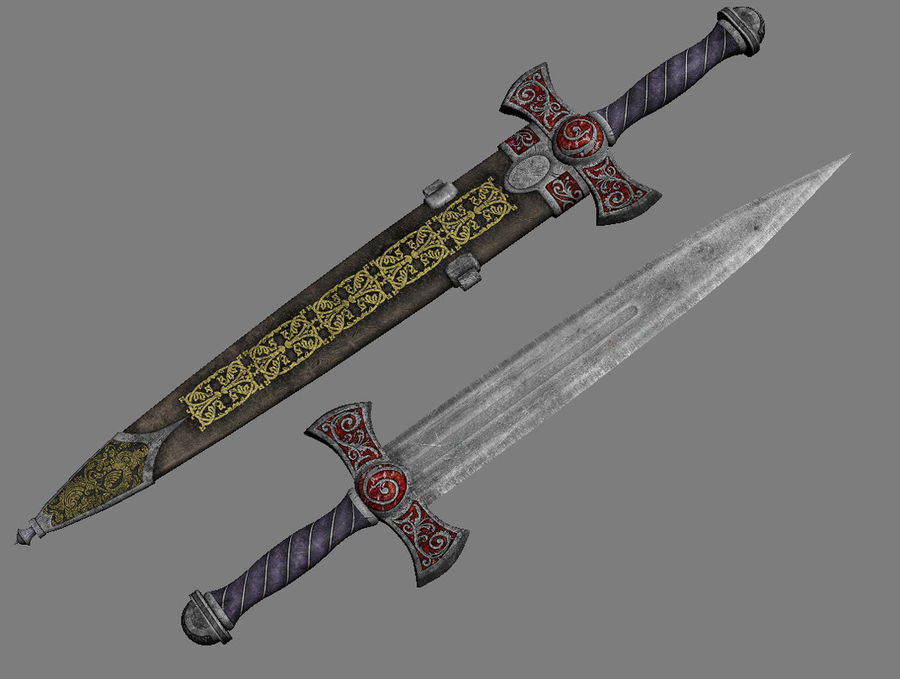 Fantasy Dagger royalty-free 3d model - Preview no. 7