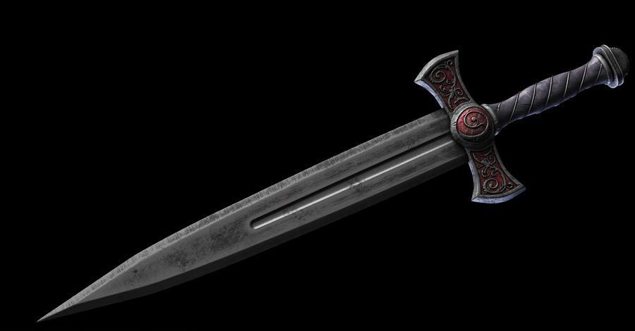 Fantasy Dagger royalty-free 3d model - Preview no. 3