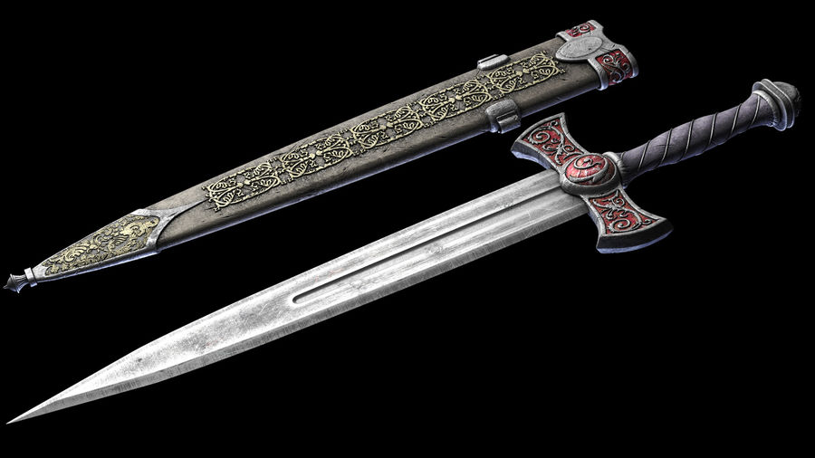 Fantasy Dagger royalty-free 3d model - Preview no. 1