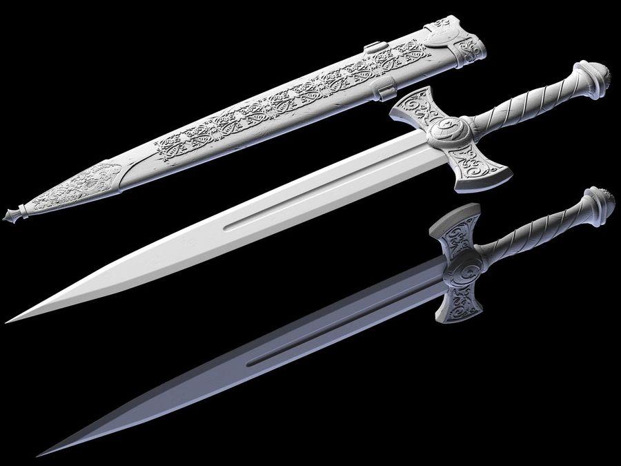 Fantasy Dagger royalty-free 3d model - Preview no. 5