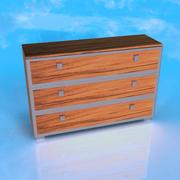 Drewniane biurko 3d model