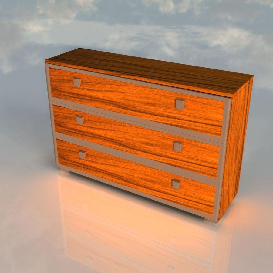나무 책상 royalty-free 3d model - Preview no. 4