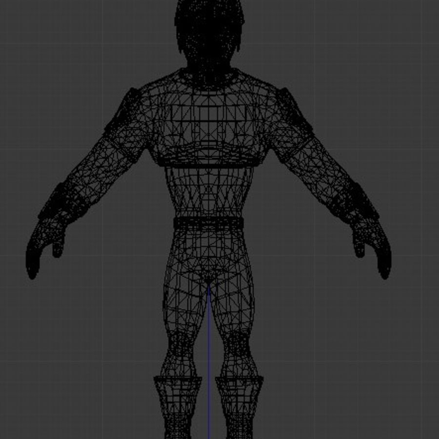 Super Hero royalty-free 3d model - Preview no. 10