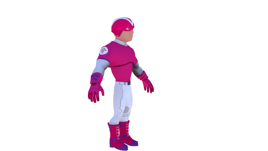 Super Hero royalty-free 3d model - Preview no. 3