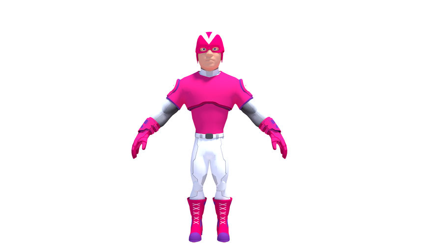 Super Hero royalty-free 3d model - Preview no. 2