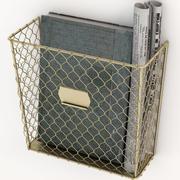 Portariviste da parete in rete metallica 3d model