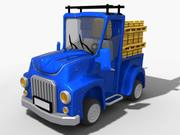 мультфильм автомобиль 6 3d model