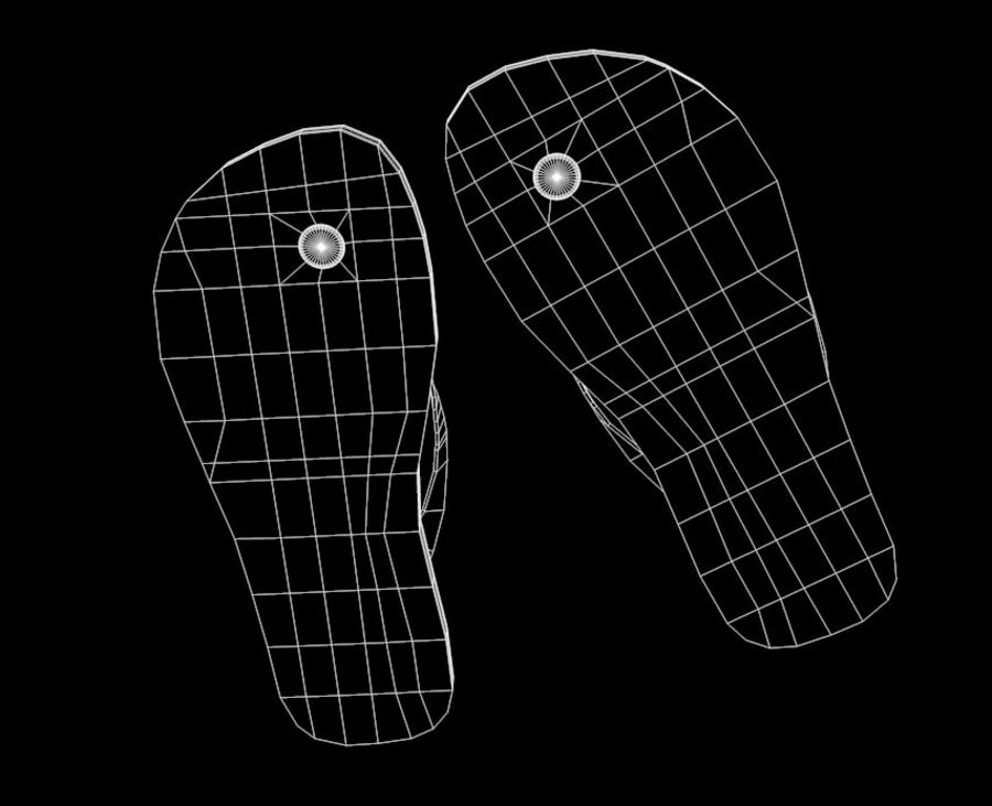 Flip-Flop Tongs royalty-free 3d model - Preview no. 10