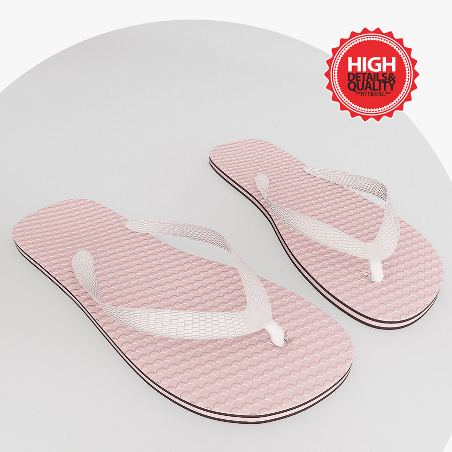 Flip-Flop Tongs royalty-free 3d model - Preview no. 1