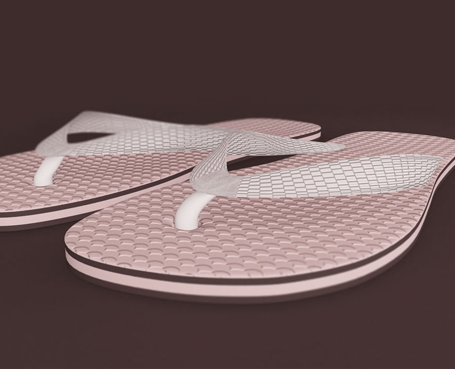 Flip-Flop Tongs royalty-free 3d model - Preview no. 7